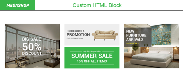 Megashop - Custom HTML Blocks