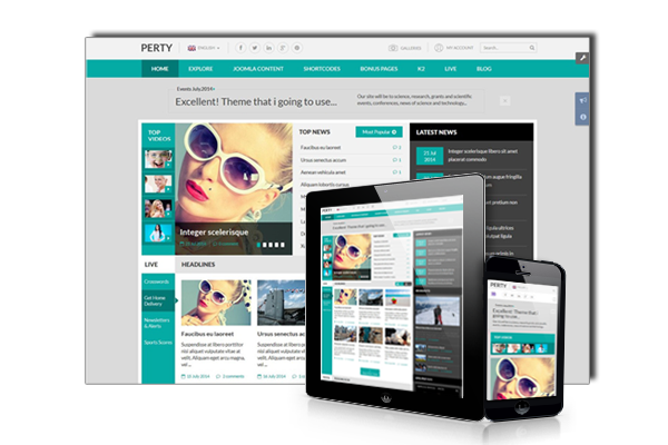 SJ Perty - Fully Responsive