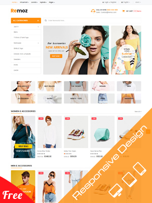 Sj Remoz - Free eCommerce Joomla Template for VirtueMart