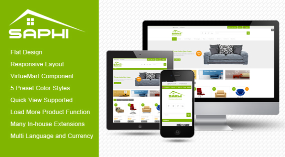 sj saphi - responsive furniture joomla template
