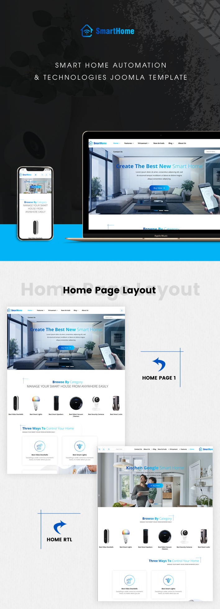 Sj SmartHome - Smart Home Automation & Technologies Joomla Template