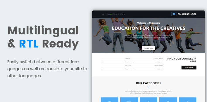 Sj SmartSchool - Responsive School, Education Joomla Template