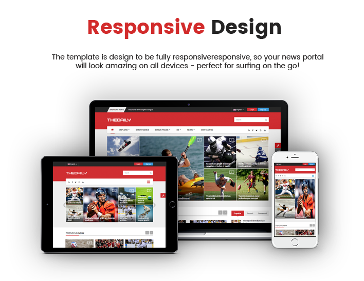 SJ TheDaily - Responsive Joomla  News Magazine Portal Template