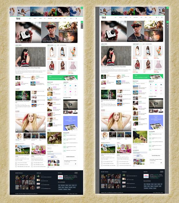 SJ Tini - Boxed & wide layouts