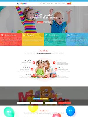SJ Uking - Responsive Joomla Kindergarten School Template