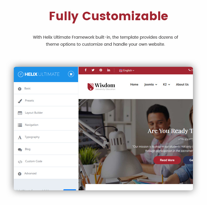 Sj Wisdom - Premium Education Joomla Template