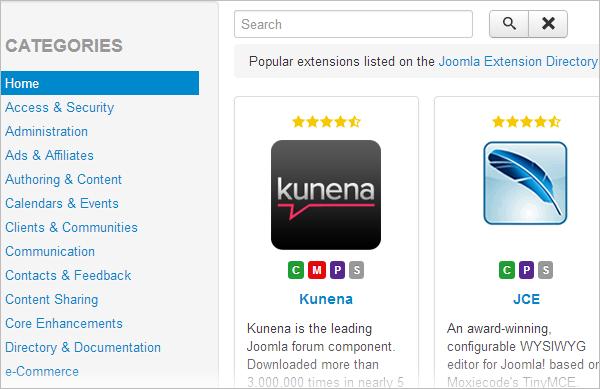 Joomla 3.2 - apps store