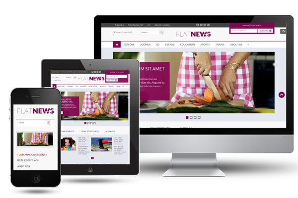 SJ Flat News - Fully Responsive