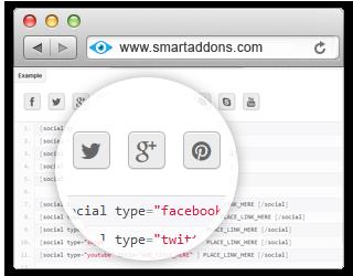 YT Shortcode - Social Buttons