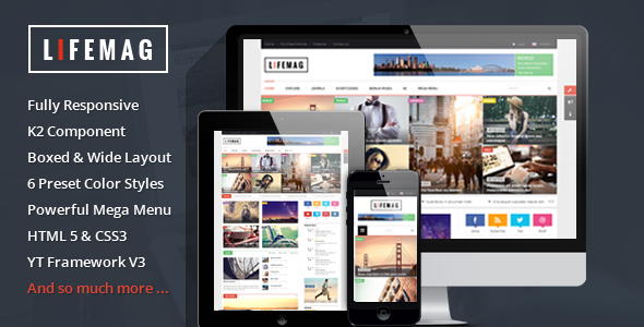 Best Joomla Templates for March-LifeMag
