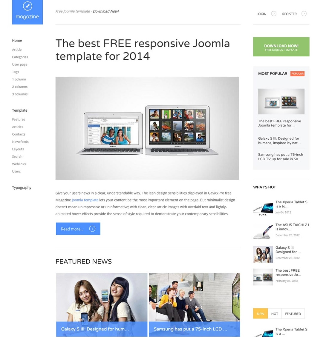 Best 10 free news magazine joomla templates 2015 for Joomla org templates