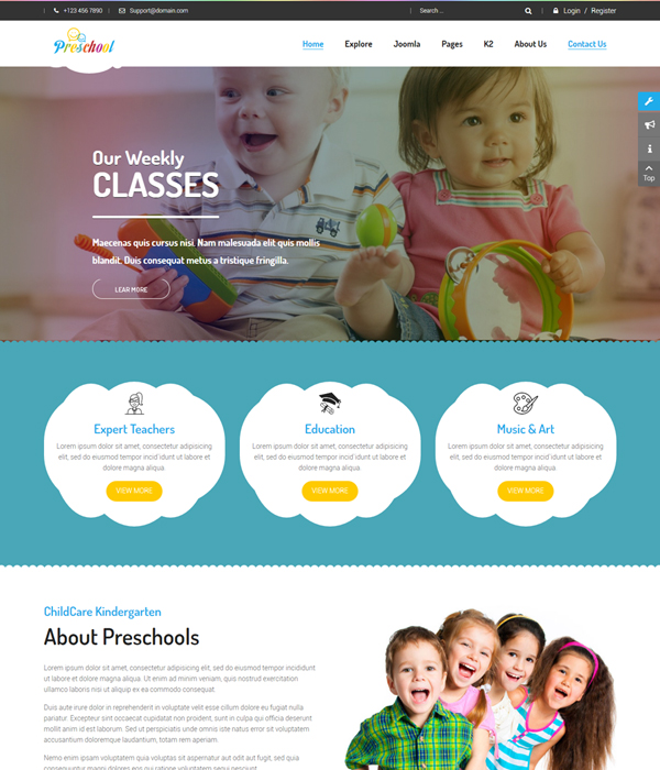 Best 15 free must have multipurpose joomla templates in 2018 sj preschool responsive education joomla template maxwellsz