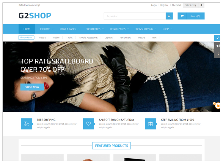 G2shop - Top 10 Best-selling Joomla Templates