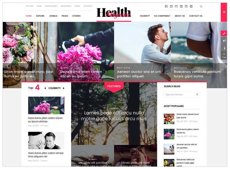 Healthmag - Top 10 Best-selling Joomla Templates