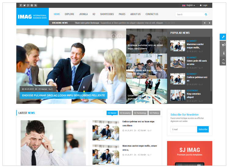 iMag - Top 10 Best-selling Joomla Templates