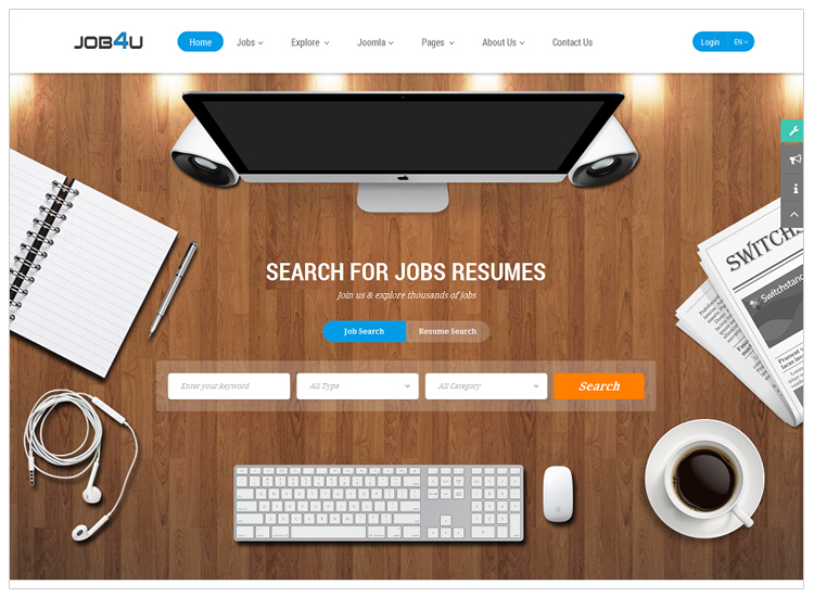 Job4u - Top 10 Best-selling Joomla Templates