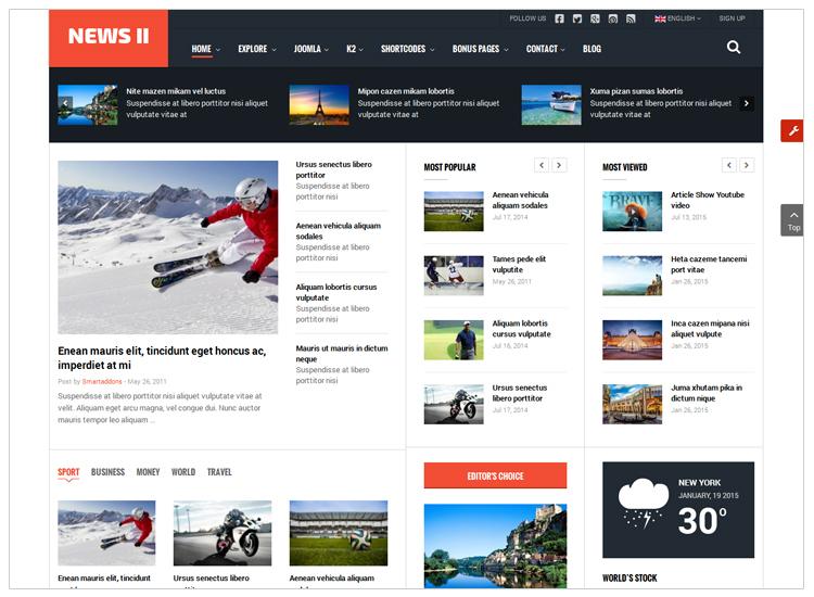 Top 10 best selling joomla templates smartaddons sj news ii free responsive joomla news magazine template maxwellsz