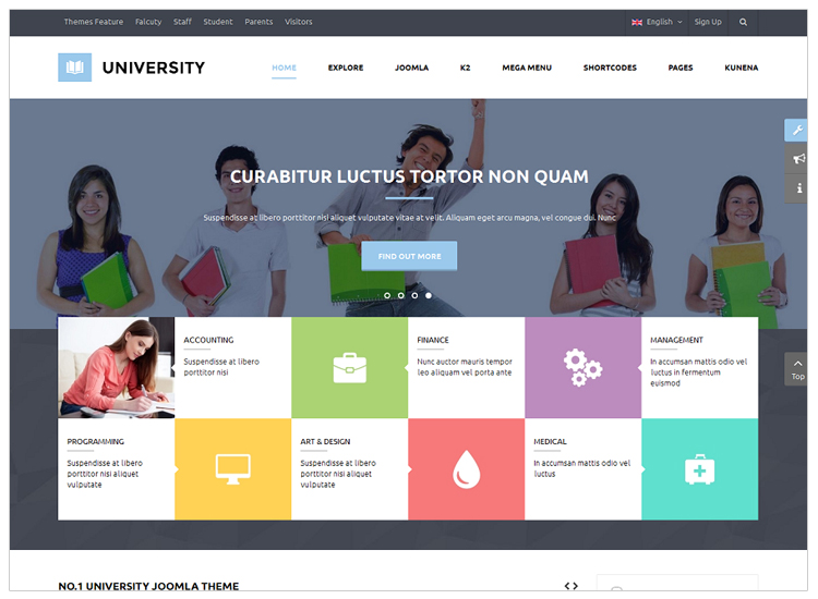 University II - Top 10 Best-selling Joomla Templates
