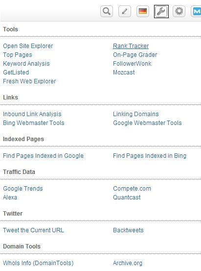 Best SEO tool - Seomoz toolbar