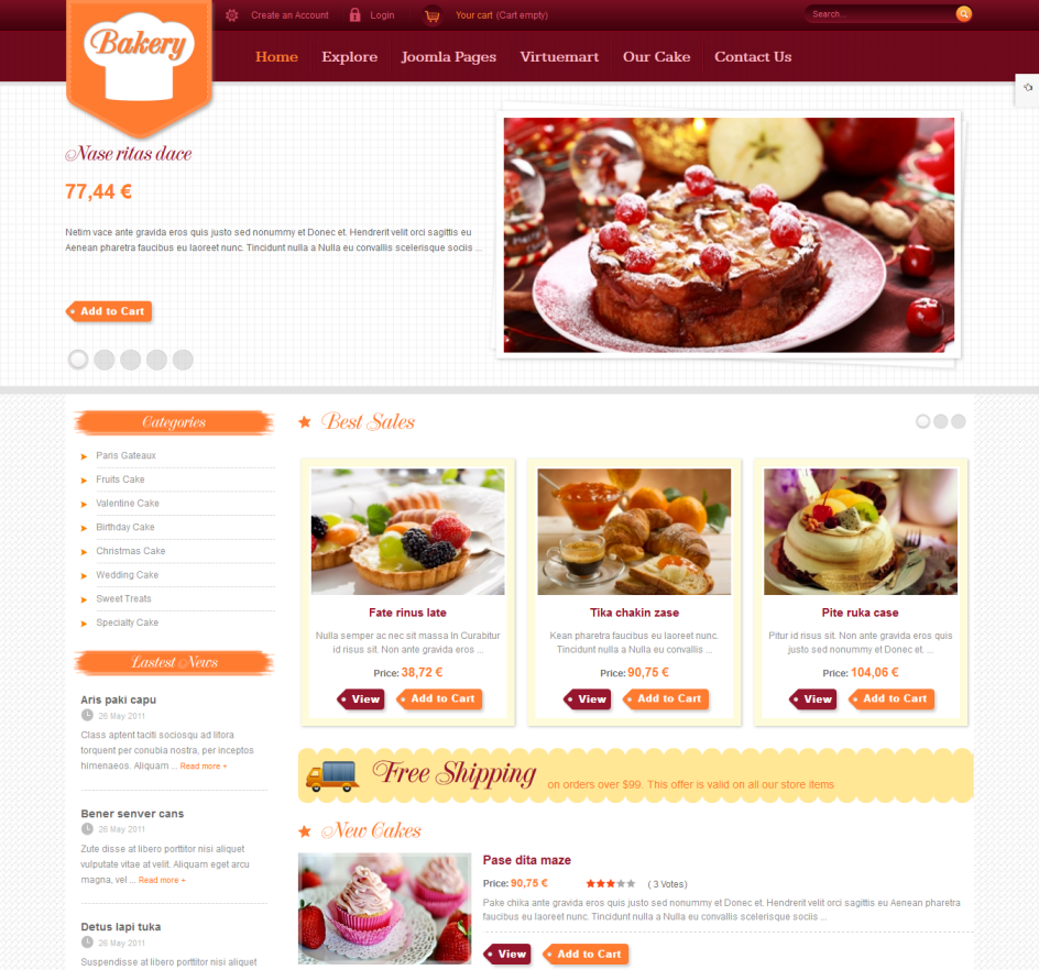 Cake Shops Using Ecommerce