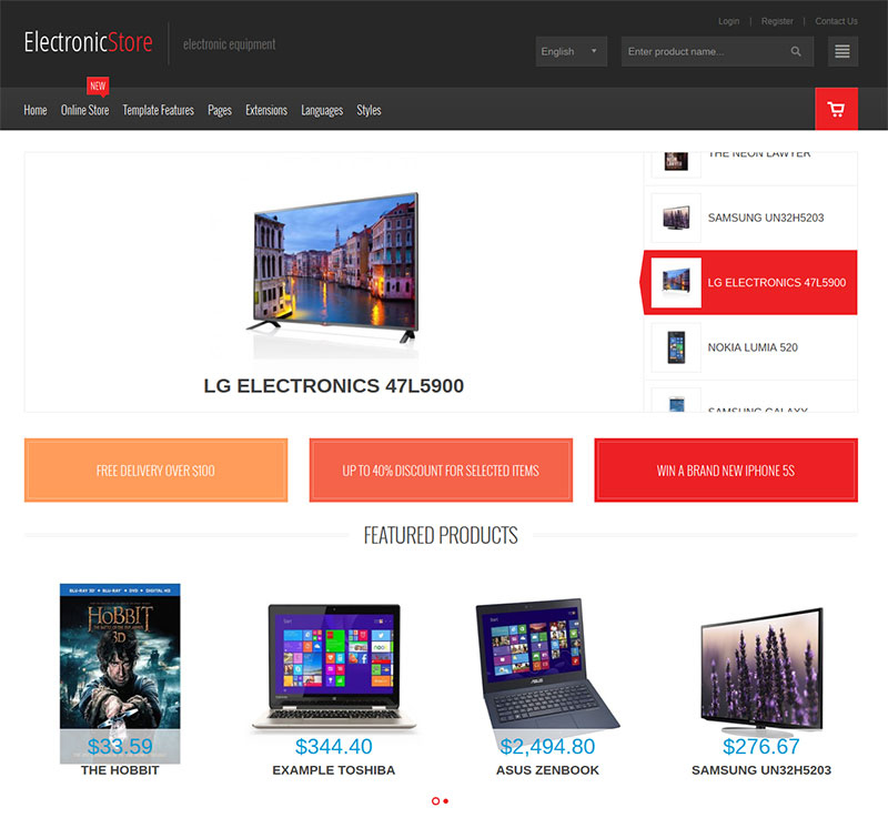 JM Computers and Electronics - Responsive VirtueMart Template