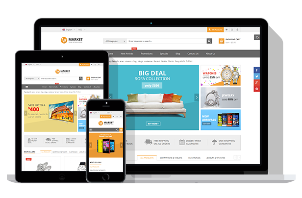 SJ Market for eCommerce store