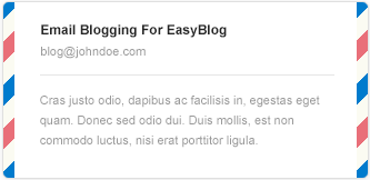 Email Blogging