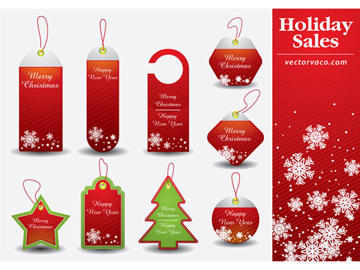 Christmas Resource Download - Christmas Tag Vector