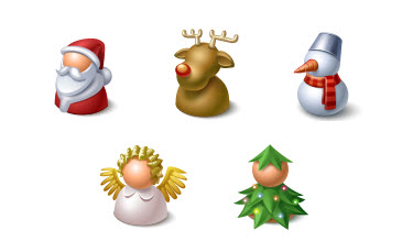 Christmas Resource Download - Cute Buddy Icons