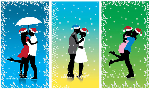 Christmas Resource Download - Xmas Couple Vector