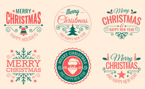 Christmas tags, labels