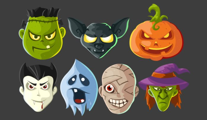 Halloween Head Icons