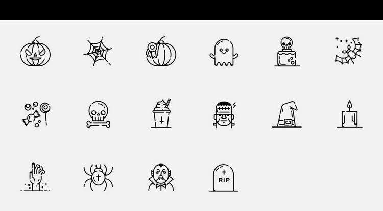 Halloween Pumpkin Social Media Icon Set