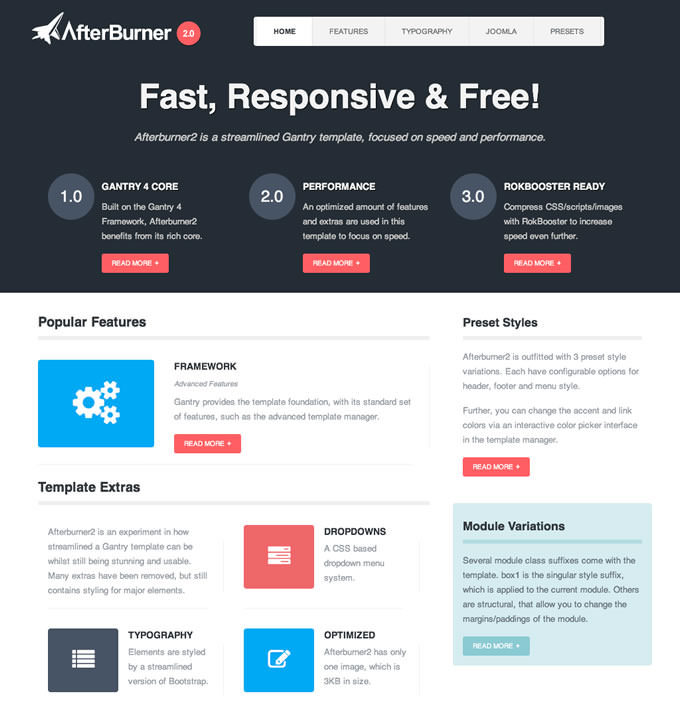 20 best free responsive joomla templates to build awesome websites 2014