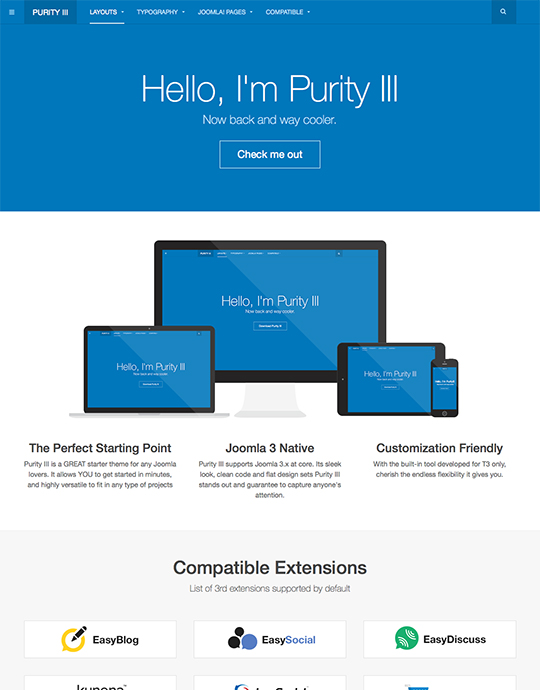20 best free responsive joomla templates to build awesome websites purity iii demo download malvernweather Choice Image