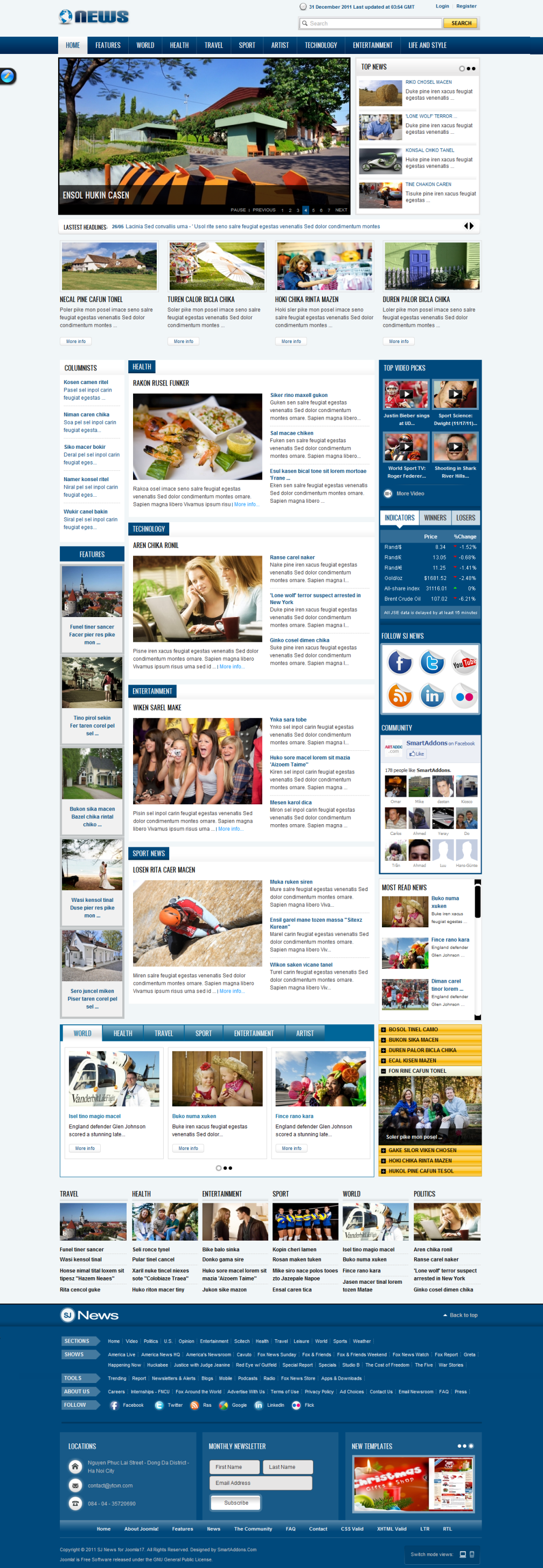 Download the best free responsive joomla templates.