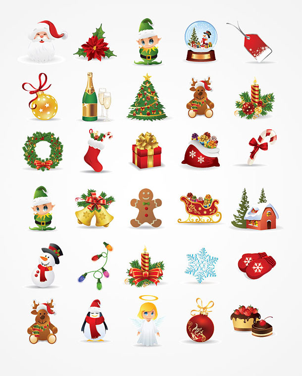 Christmas freebies: 30 high quality Xmas vector graphics will ...
