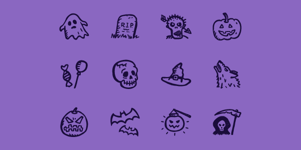 Spooky Icon Set