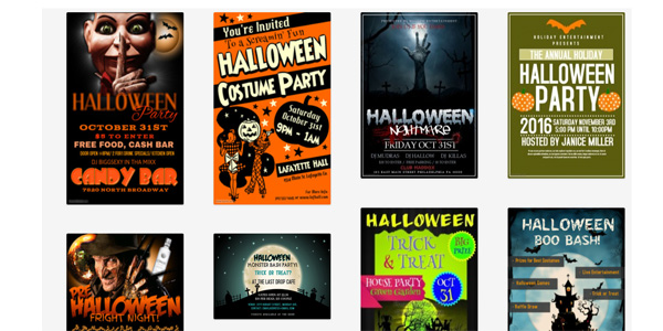 Halloween Flyers Collections