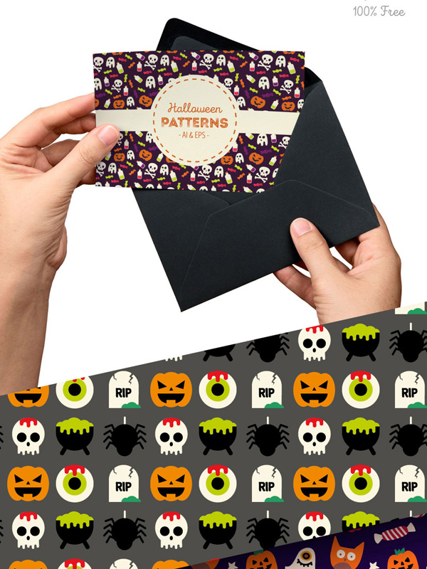 Halloween Patterns Vector Collections
