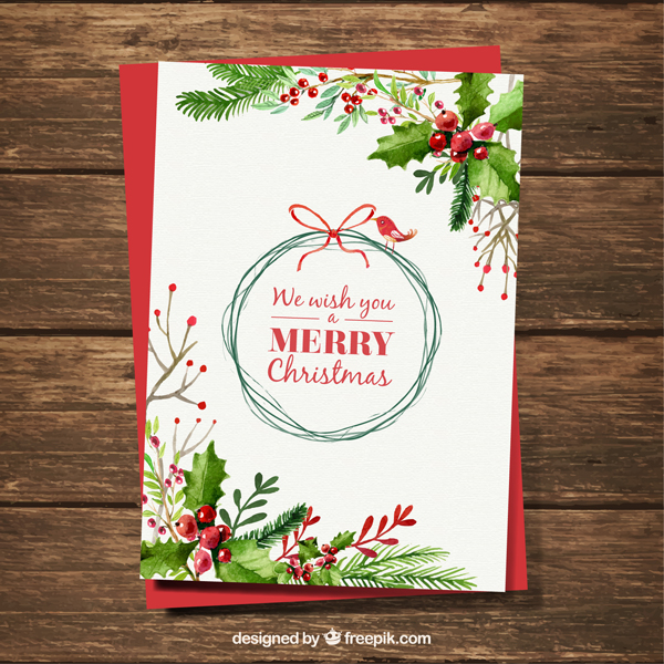 High-Quality Free Christmas Vector Graphics 2016 - Christmas Card