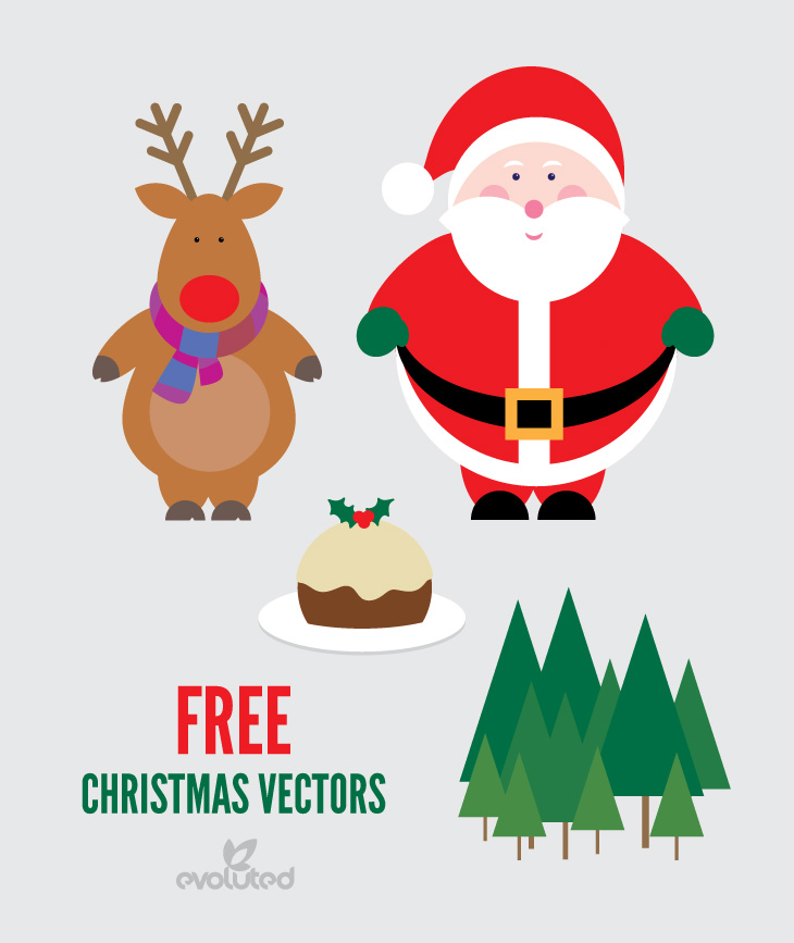 High-Quality Free Christmas Vector Graphics 2016 - Santa Claus