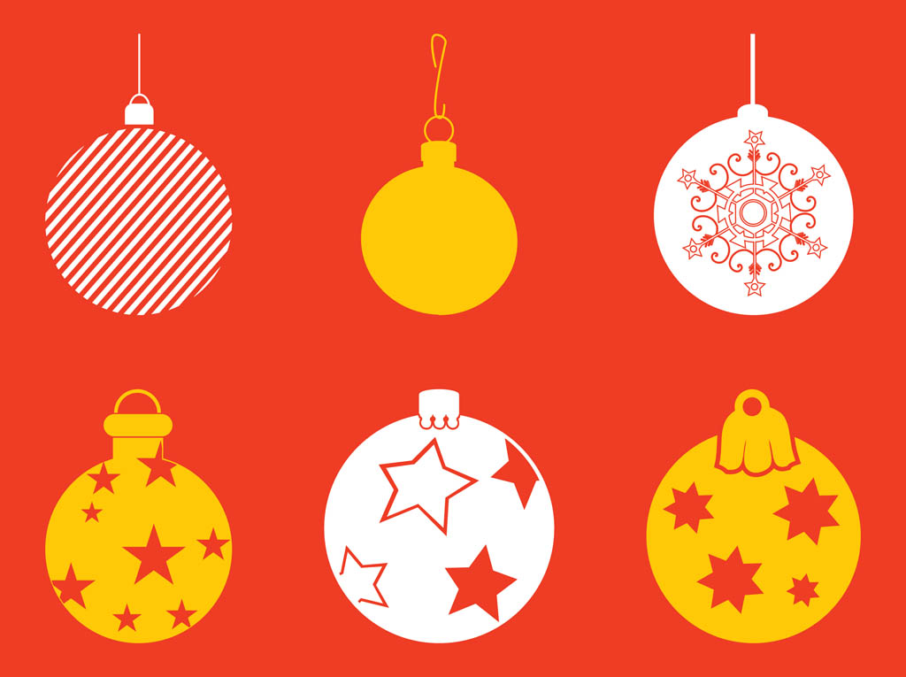 High-Quality Free Christmas Vector Graphics 2016 - Baubles