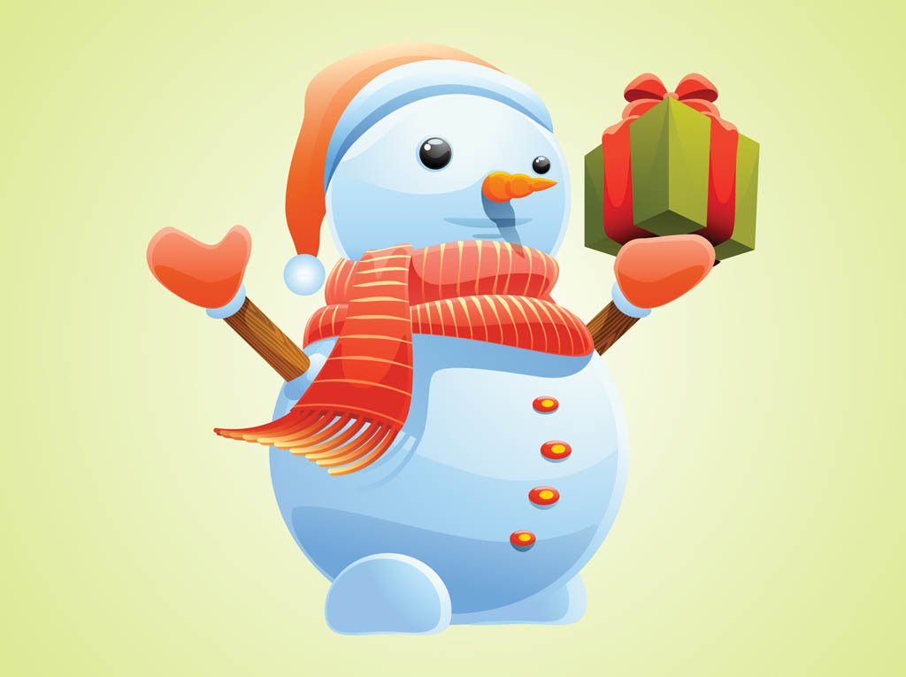 High-Quality Free Christmas Vector Graphics 2016 - Christmas Snowman