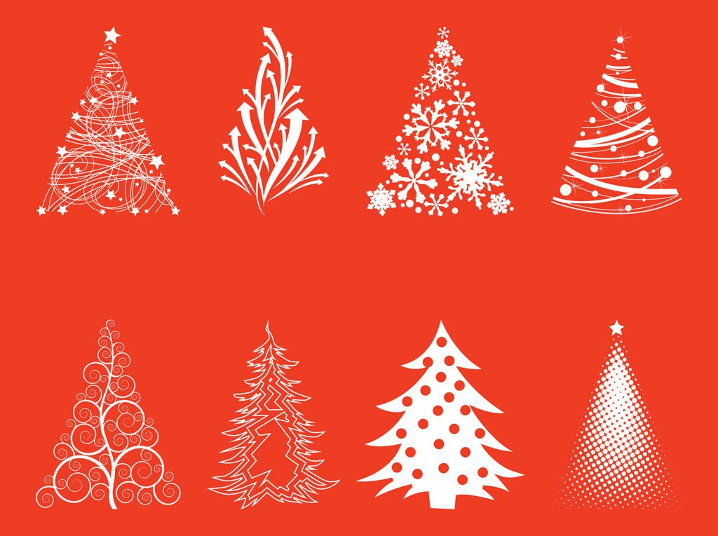 High-Quality Free Christmas Vector Graphics 2016 - Trees
