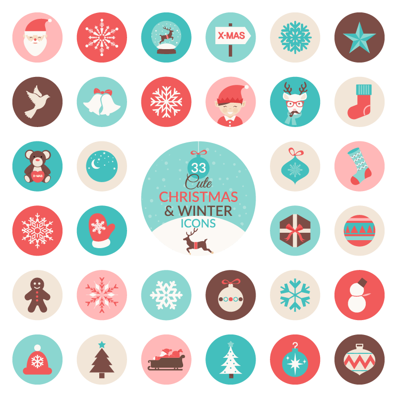 High-Quality Free Christmas Vector Graphics 2016 - 25