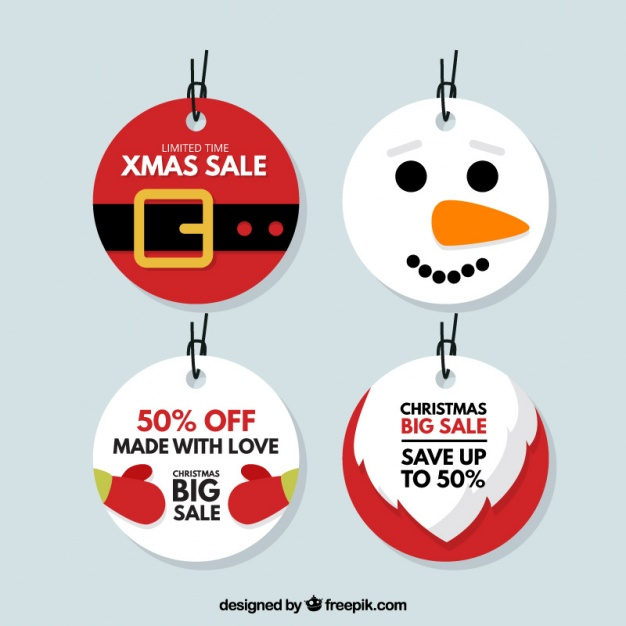 High-Quality Free Christmas Vector Graphics 2016 - Tag