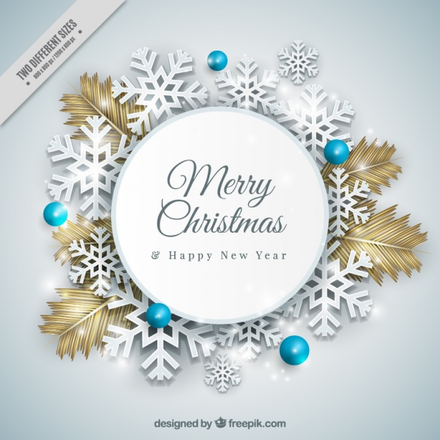 High-Quality Free Christmas Vector Graphics 2016 - Snowflakes