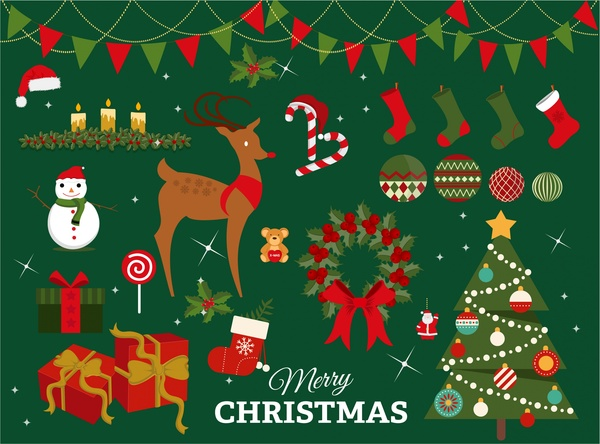 High-Quality Free Christmas Vector Graphics 2016 - Christmas design elements