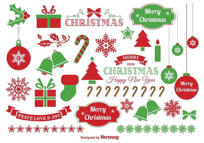 High-Quality Free Christmas Vector Graphics 2016 - Elements